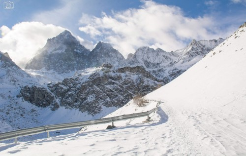 Snowshoeing on the Monviso Alps